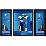 Delight Flower Poster With Black Frame Set Of 3