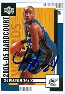 Jarvis Hayes Autographed Hand Signed Basketball Card (Washington Wizards) 2004 Upper... by Hall of Fame Memorabilia