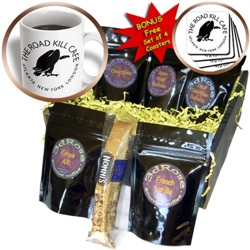 R McDowell Graphics Animal Humor - Road Kill Cafe - Coffee Gift Baskets - Coffee Gift Basket (cgb_15920_1)