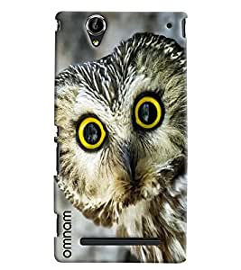Omnam Owl Giving Closeup Printed Designer Back Cover Case For Sony Xperia T2 Ultra