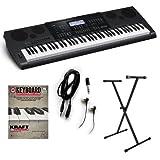 Casio WK-7600 Keyboard ESSENTIALS BUNDLE w/ Stand & Earbuds