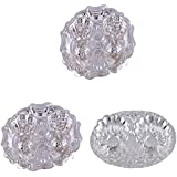 GS MUSEUM Silver Plated Rani Kumkum Plate 2 Sets And Silver Plated Oval Kumkum Plate