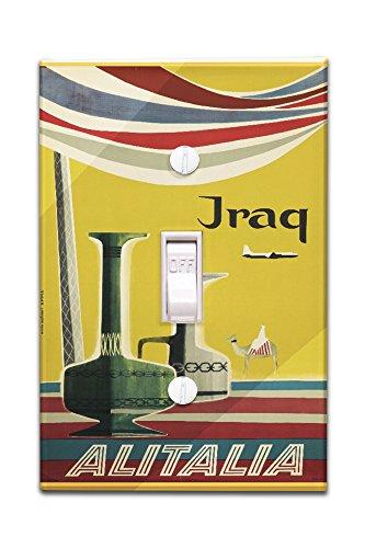 alitalia-iraq-vintage-poster-artist-molinari-italy-c-1955-light-switchplate-cover
