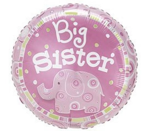 Big Sister Elephant 18h Mylar Balloon