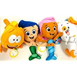 """Bubble Guppies Gil, Molly, Mr Grouper and Bubble Puppy 4 Plush Doll Set 8"""""""