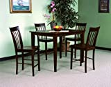 Shiloh 5-piece Counter Height Table Set By Crown Mark Furniture
