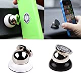 PR Universal 360 Degree Rotating Car Phone Stand, Universal Magnetic Mount Holder For All Phone Sizes, Mobile, tablet or GPS (Silver)-Tata Indica Ev2