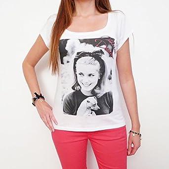 Catherine Deneuve : T-shirt Femme imprimé photo de star - Blanc, S