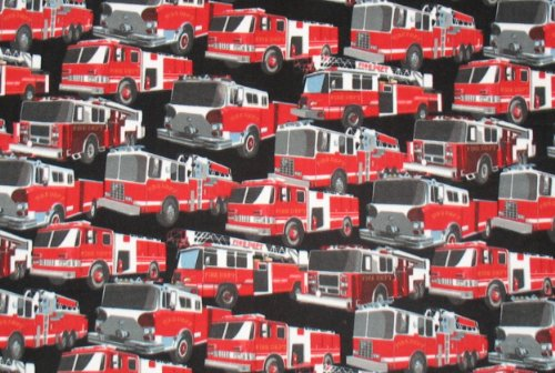 Firetrucks Fleece Throw Blanket front-630771