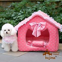 Pink Princess House Pet House, Princess Bedroom (Small)