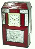 Nebraska Cornhuskers Stained Glass Clock