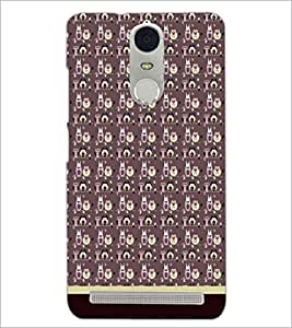PrintDhaba Owl Pattern D-1707 Back Case Cover for LENOVO K5 NOTE (Multi-Coloured)