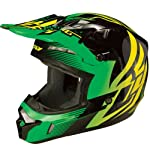 Fly Racing Kinetic Inversion Adult Motocross/Off-Road/Dirt Bike Motorcycle Helmet - Green/Black / Small