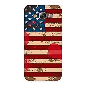 Delighted Grunge USA Flag Multicolor Back Case Cover for Galaxy E7