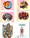 Marvel Heroes Collectible Sticker Lot of 11 Namor & Group Shots
