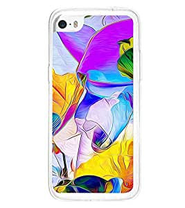 Bright Multicolour Fluid Pattern 2D Hard Polycarbonate Designer Back Case Cover for Apple iPhone 5C