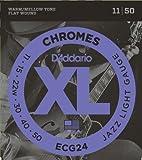 【国内正規品】D'Addario ダダリオ エレキギター弦 フラットワウンド Jazz Light (11-50) ECG-24