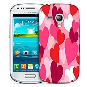 Snoogg Multiple Hearts Designer Protective Phone Back Case Cover For Samsung Galaxy S3 Mini