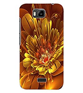 ColourCraft Digital Flower Design Back Case Cover for HUAWEI HONOR BEE
