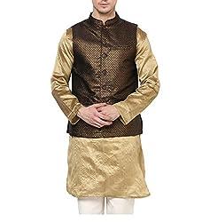 Yepme Men's Black Blended Nehru Jackets - YPMNJKT0021_M