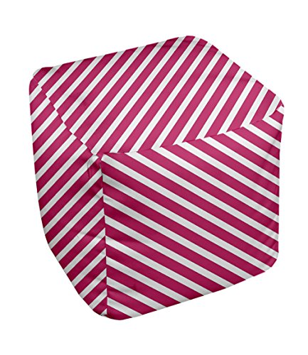 E by design Stripe Pouf, 13-Inch, 2Fushia