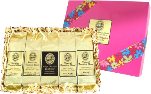 Christmas Coffee Gift for Women, Kona Hawaiian