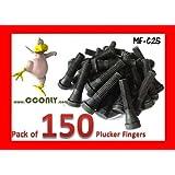 Pack of 150 Rubber Chicken Plucker Fingers for Poultry Plucking Machine Whizbang & EZplucker