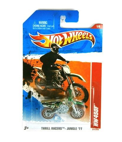 dirt bikes hot wheels 2011 thrill racers jungle 39 11. Black Bedroom Furniture Sets. Home Design Ideas
