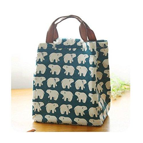 Borse porta alimenti Lunchbox bag lunch box sacchetto isolato borsa secchiello per pic-nic viaggio-Orso