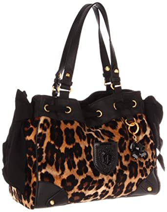 Juicy Couture Daydreamer Yhru3129 Shoulder Bag Camel Leopard One Size 114