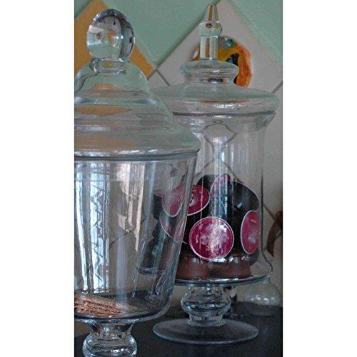 bocal sur pied en verre haut 33cm bonbonnière bocaux avec joli couvercle