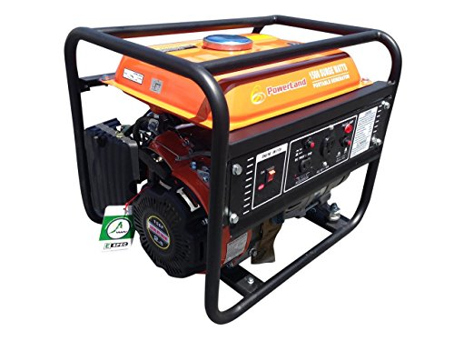 Powerland Pd2000 Portable 1500-Watt Gas Electric Generator, 2.4 Hp