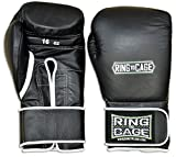 Japanese Style Training Boxing Gloves 2.0 - Velcro or Lace-Up - 12oz, 14oz, 16oz, 18oz - 9 Colors to choose (Black, 16oz Velcro)
