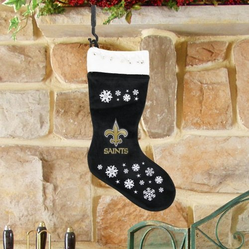 NFL New Orleans Saints Snowflake Stocking Home Garden