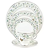 Lenox Idalia Bone China Platinum Banded 5-Piece Place Setting, Service for 1