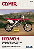 img - for Clymer Honda CRF250R, CRF250X, CRF450R & CRF450X 2002-2005 (Clymer Motorcycle Repair) (Clymer Manuals: Motorcycle Repair) book / textbook / text book