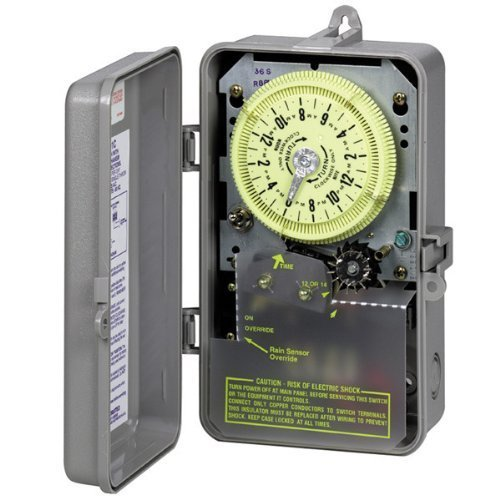Intermatic-R8816P101C-Timer-240V-3HP-DPST-Sprinkler-Irrigation-Mechanical-Timer-w-14-Day-Skipper-by-Intermatic