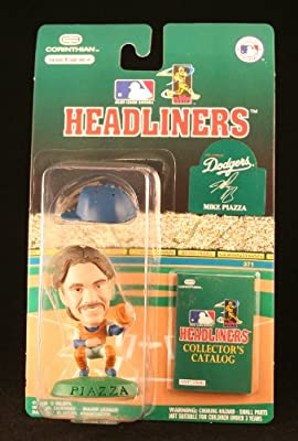 1996 - Corinthian - MLB - Headliners - Mike Piazza - Los Angeles Dodgers - Vintage 3 Inch Baseball Figure - w/ Collector's Catalog - Limited Edition - Collectible - Rare