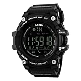 SKMEI 1227 Bluetooth Digital Smart Watch Black With Health Fitness and Sport Activity Tracker Compatible with IOS, Android, Apple iphone 7, 3G, 4G Smart Phones, All Mobiles