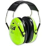 3M Peltor KIDV Kid Casque de protection auditive pour enfant (Vert fluo)