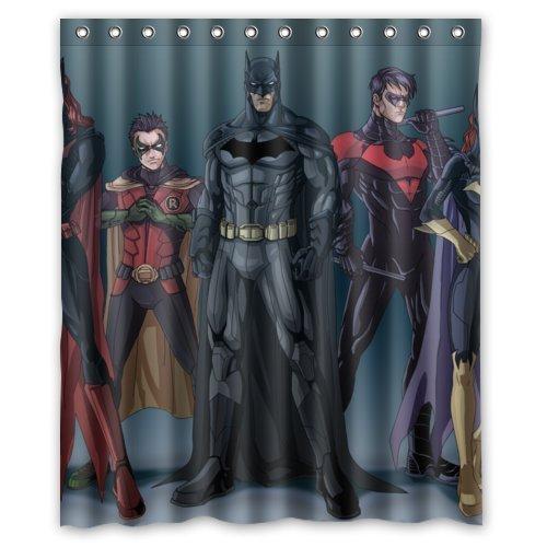 Fashionable Bathroom Collection-Custom Batman_robin_dc_comics Shower Curtain Bath Decor Curtain 60 (Dc Shower Curtain compare prices)