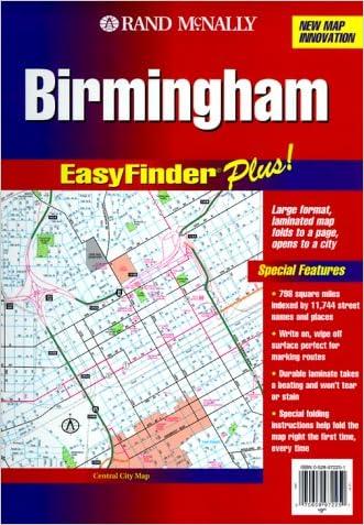 Rand McNally Birmingham Al Easyfinder Plus Map