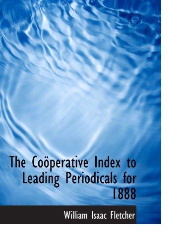 Der Cooeperative-Index zu den führenden Fachzeitschriften für 1888