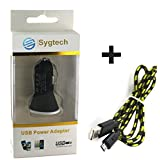 2.1 Amp Car Charger With Micro Usb Data Transfer And Charging Cable For HTC Desire 626,HTC Desire 526G+ Dual Sim...