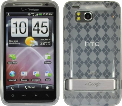 Premium Tpu Flex Gel Skin Case Cover For Htc Thunderbolt 4G 6400 Verizon Clear