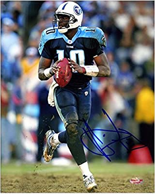 "Vince Young Tennessee Titans Autographed 8"" x 10"" Ball In Both Hands Photograph - Fanatics Authentic Certified"