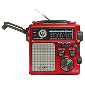 51A39YAW9XL. SL500 AA280  Eton FR300 Emergency Crank Radio Metallic Red   $33 Shipped