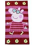 Acquista Peppa Pig tovagliolo di spiaggia di 70 x 140 cm, 100% cotone velour