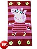 Peppa Pig tovagliolo di spiaggia di 70 x 140 cm, 100% cotone velour