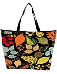 Snoogg Seamless Pattern With Leaf Waterproof Bag Made Of High Strength Nylon - B01I1KMXNC